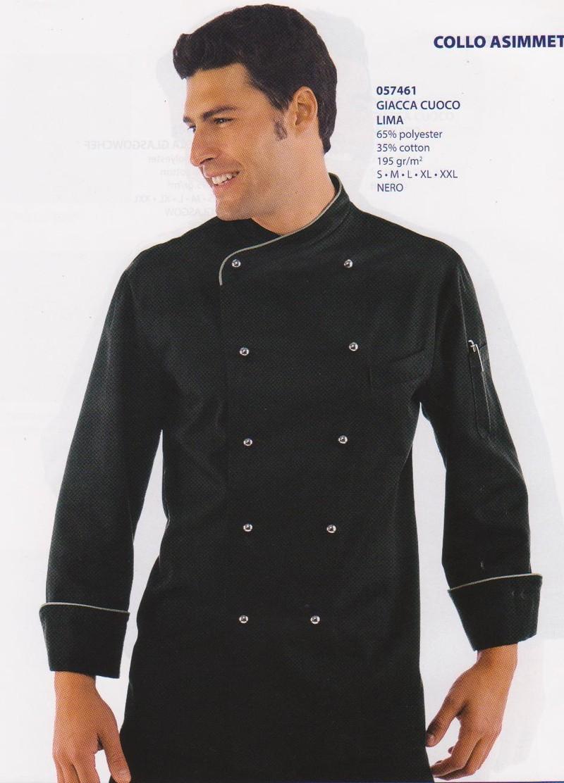 veste cuisine noire - isacco - vêtements linge de maison - Vetements De Cuisine
